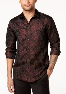 INC I.n.c. Men's Paisley Jacquard Shirt, Created for Macy's