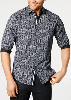 INC I.n.c. Men's Paisley Skull Shirt, Created for Macy's