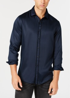 INC I.n.c. Men's Long Sleeve Velvet Piping Shirt, Created for Macy's