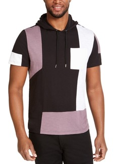 Inc Men's Pieced Short-Sleeve Hoodie, Created for Macy's