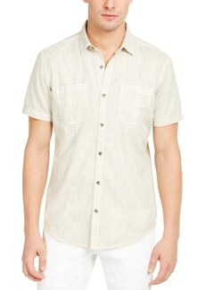 Inc Men's Pieced Solid Shirt, Created for Macy's