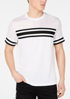 Inc Men's Pieced Stripe Mesh T-Shirt, Created for Macy's