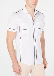 Inc Men's Piped Ripstop Shirt, Created for Macy's