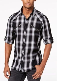 INC I.n.c. Men's Plaid Utility Shirt, Created for Macy's