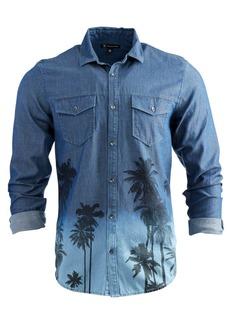 Inc Men's Printed Denim Shirt, Created for Macy's