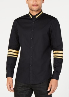 INC I.n.c. Men's Regal Striped-Trim Shirt, Created for Macy's