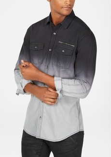 INC I.n.c. Men's Regular Fit Dip Dyed Shirt, Created for Macy's