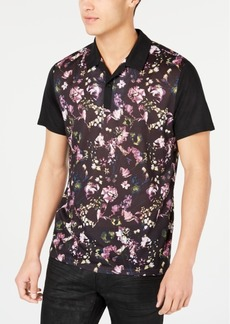 INC I.n.c. Men's Regular-Fit Floral-Print Polo, Created for Macy's