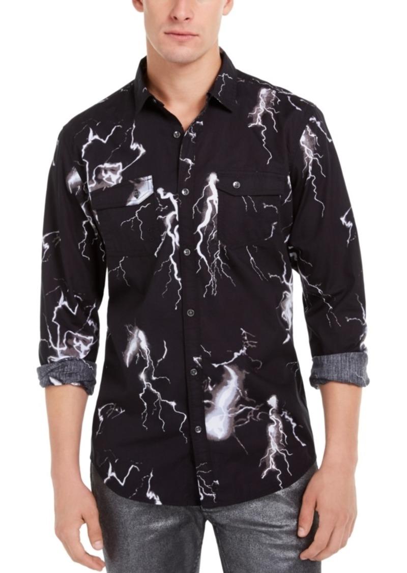 Inc Men's Regular-Fit Lightning-Print Shirt, Created For Macy's