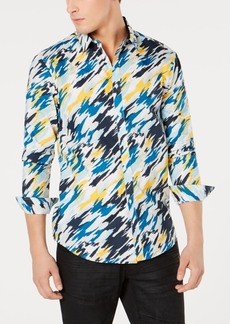INC I.n.c. Men's Regular-Fit Painterly-Print Shirt, Created for Macy's