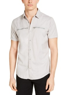 INC I.n.c. Men's Regular-Fit Solid Shirt, Created for Macy's