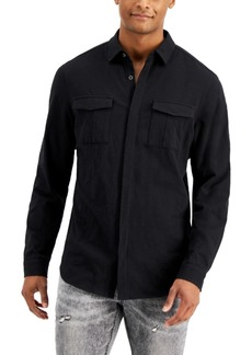 Inc Men's Regular-Fit Textured-Knit Shirt, Created for Macy's