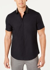 INC I.n.c. Men's Sequin Collar Short Sleeve Woven, Created for Macy's