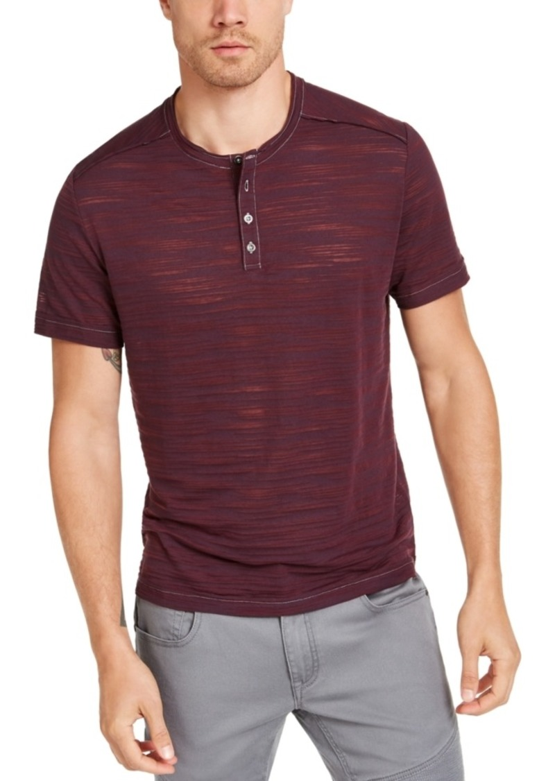 Inc Men's Big & Tall Sheer Streaked Henley, Created for Macy's