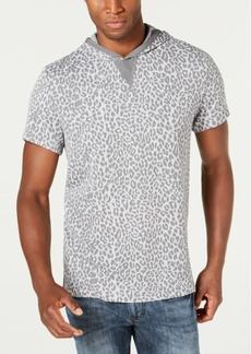 Inc Men's Short-Sleeve Animal Print Hoodie, Created for Macy's