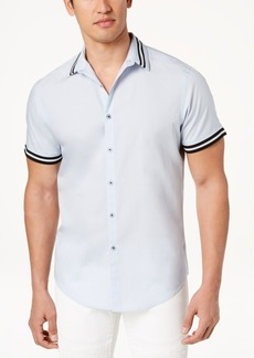 INC I.n.c. Men's Short Sleeve Button Down Shirt, Created for Macy's