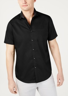INC I.n.c. Men's Short-Sleeve Pocket Shirt, Created for Macy's