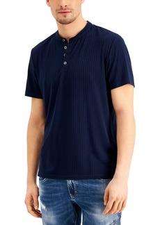 Inc Men's Short-Sleeve Ribbed Henley, Created for Macy's
