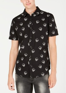 INC I.n.c. Men's Sketched Skull Shirt, Created for Macy's