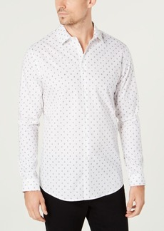 INC I.n.c. Men's Slim-Fit Mini-Skull Shirt, Created for Macy's
