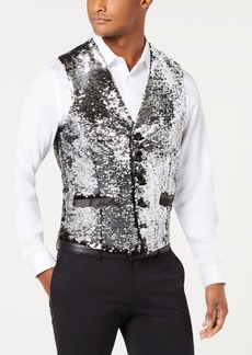 INC I.n.c. Men's Slim-Fit Reversible Sequined Vest, Created for Macy's