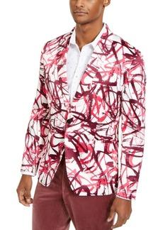 Inc Men's Slim-Fit Scribble Blazer, Created for Macy's