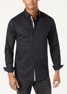 INC I.n.c. Men's Slim-Fit Stretch Dot-Print Shirt, Created for Macy's