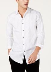 INC I.n.c. Men's Slim-Fit Stretch Dot-Print Shirt, Created for Macy's
