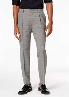 INC I.n.c. Men's Slim-Fit Stretch Plaid Pleated Pants, Created for Macy's
