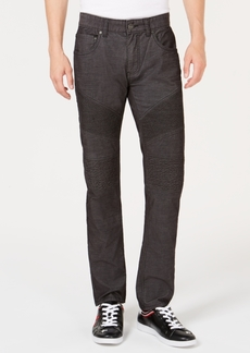 INC I.n.c. Men's Slim-Straight Fit Stretch Corduroy Moto Jeans, Created for Macy's