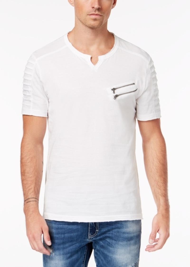 Inc Men's Split-Neck Zipper T-Shirt, Created for Macy's