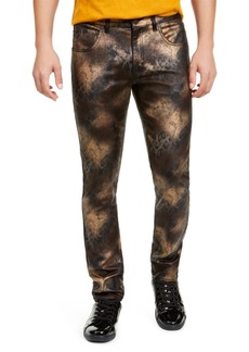 Inc Men's Spray Paint Skinny Jeans, Created For Macy's