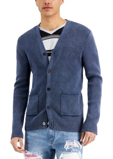 Inc International Concepts Men's Stonewashed Cardigan Sweater, Created for Macy's