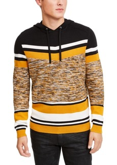 Inc Men's Striped Hooded Sweater, Created For Macy's