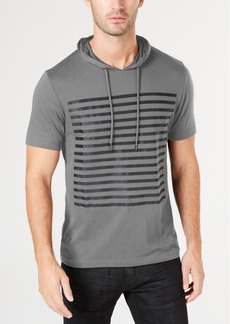 INC I.n.c. Men's Striped Short-Sleeve Hoodie, Created for Macy's