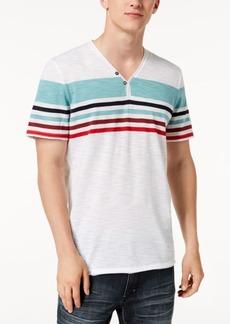 Inc Men's Striped Split-Neck T-Shirt, Created for Macy's