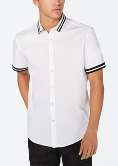 INC I.n.c. Men's Striped-Trim Shirt, Created for Macy's