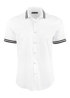 Inc Men's Striped-Trim Shirt, Created for Macy's