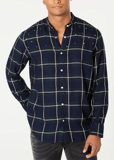 INC I.n.c. Men's Studded Windowpane Shirt, Created for Macy's