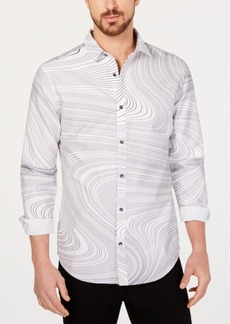 INC I.n.c. Men's Swirl Print Shirt, Created for Macy's