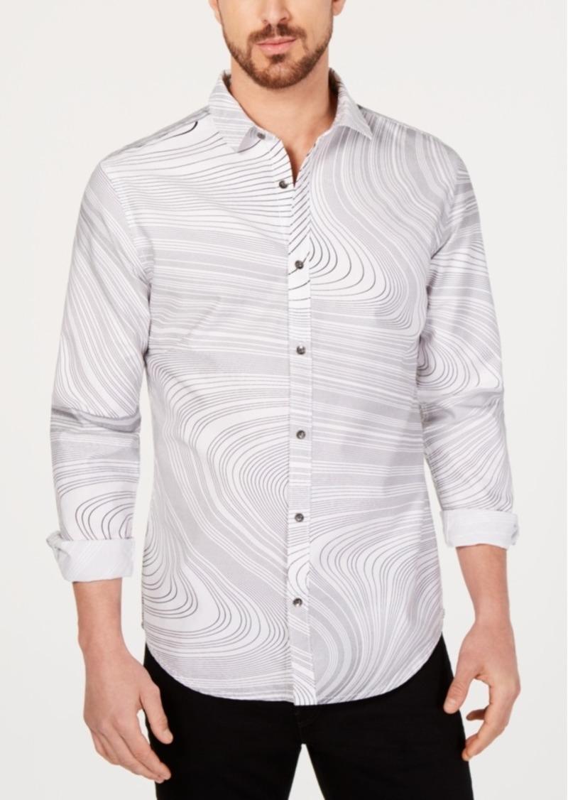 Inc Men's Swirl Print Shirt, Created for Macy's