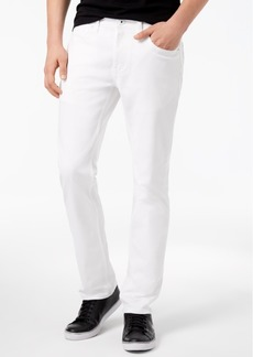 Inc Men's Teller Slim-Fit White Jeans, Created for Macy's