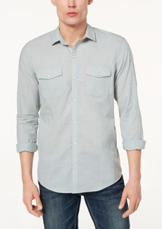 INC I.n.c. Men's Textured Chambray Shirt, Created for Macy's