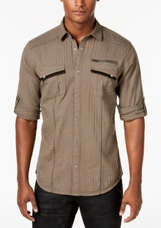 INC I.n.c. Men's Textured Utility Shirt, Created for Macy's