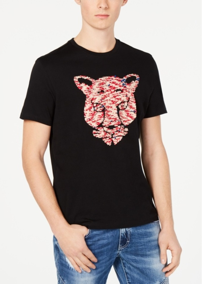 Inc Men's Tiger Reversible Sequin Graphic T-Shirt, Created for Macy's