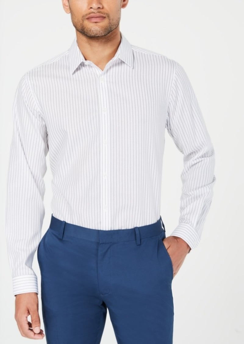 INC I.n.c. Men's Topstitched Striped Shirt, Created for Macy's