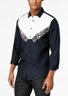INC I.n.c. Men's Tuxedo-Inspired Shirt, Created for Macy's