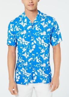 INC I.n.c. Men's Twig Leaf Camp Collar Shirt, Created for Macy's