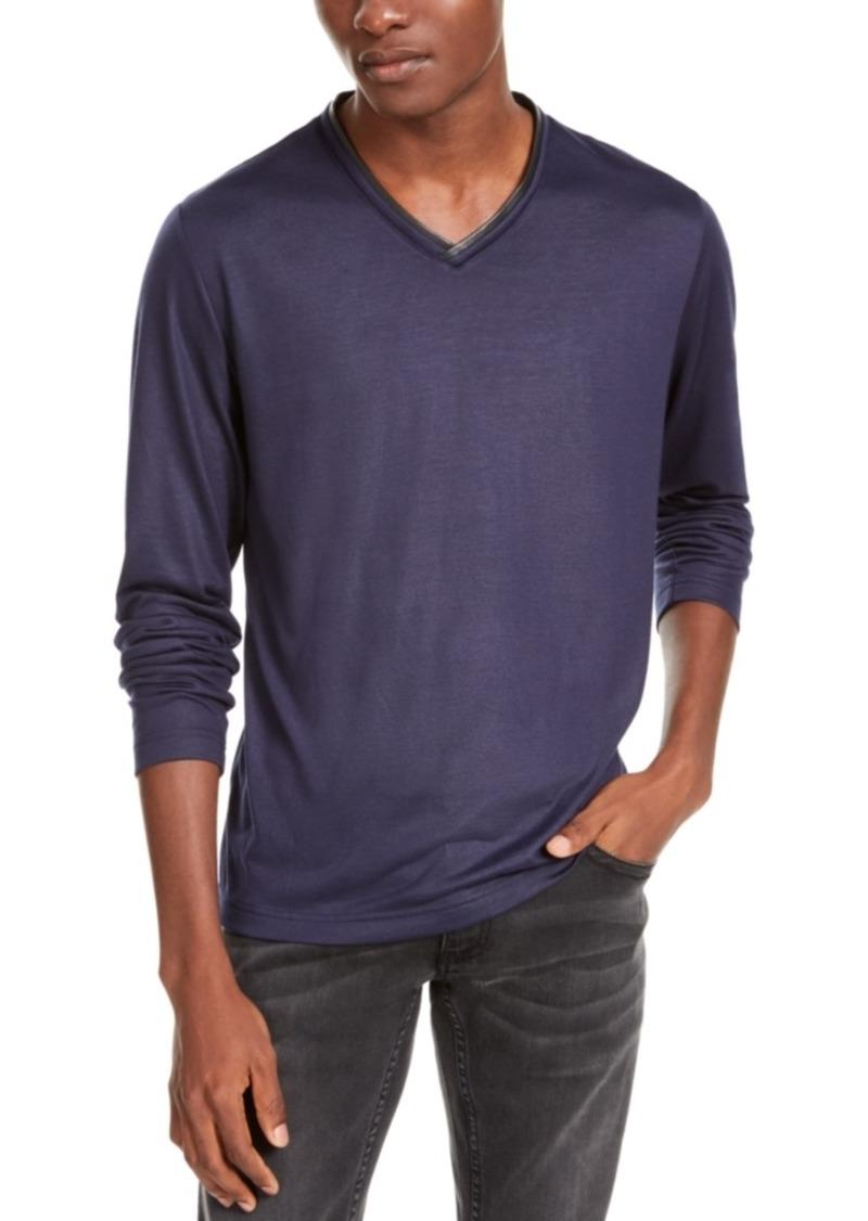 Inc Men's V-Neck Long-Sleeve T-Shirt, Created For Macy's