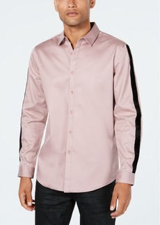 Inc Men's Velvet Stripe Shirt, Created for Macy's
